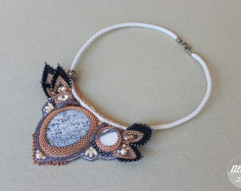 """Bead embroidered necklace """"Verona"""""""