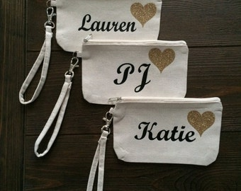 Custom Wristlet/Pouch. Personalized Wristlet. Personalized Purse. Christmas Gift; Holiday Gift; Stocking Stuffer; Birthday Gift