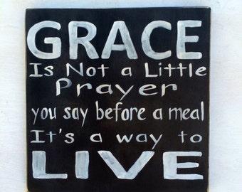 Grace sign/rustic/faith