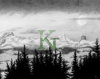 "KG Cards ""Mountains"" Greeting Card"