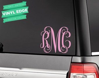 Monogram Car Decal Etsy - Custom car stickers and decals