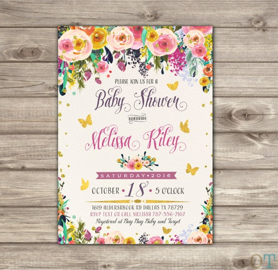 Boho butterfly baby shower invitation vintage rustic bohemian like this item filmwisefo Image collections