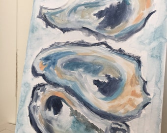 Oysters - Beach Art - Pearls - Oyster Shells