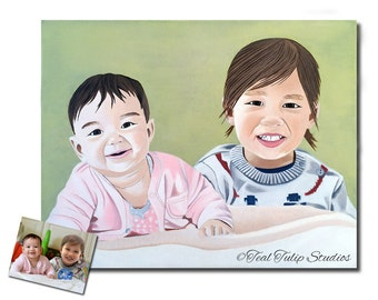 Gift for Brother from Sister, Child Portraits, Gift from Brother to Sister, Gift for New Mom, Gift for Grandmother,