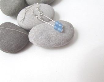 Aquamarine Gemstone Earrings, Birthstone Earrings, March Birthstone, Birthday Gift, Aquamarine Earrings