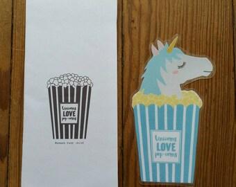 Unicorns love pop-corns / / 1 bookmark