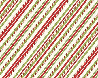 "Stripes Christmas Fabric/""Purely Christmas"" collection_ 8296-44"