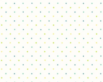 """White with tiny dots  Flannel Fabric / """"Ric Rac Paddywack"""" collection by Henry Glass_646458-16"""