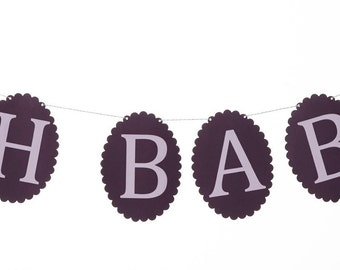 Oh Baby Banner, Baby Shower Banner, Baby Shower Decor, New Baby Banner