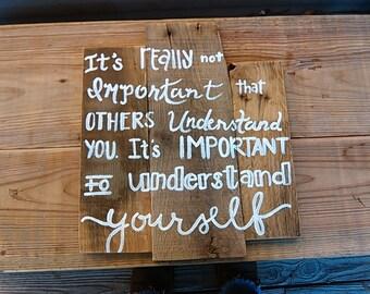 Words of Wisdom sign