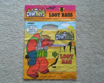 90s Cowboys of Moo Mesa Party Loot Bags