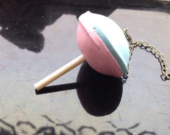 Pink Blue Lollipop Sweet Candy Necklace 24 Inches