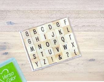 "Rubber stamp set ""Alphabet"" 30 pieces"