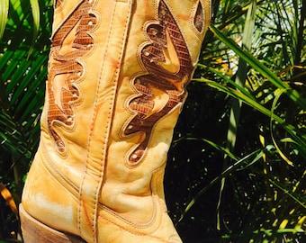 Vintage 70s Capezio cowboy boots
