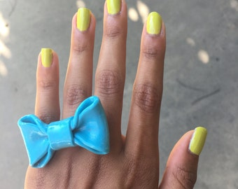 Polymer Clay Bow Ring