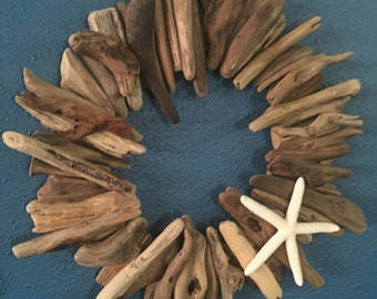 Hawaii beach driftwood wreath
