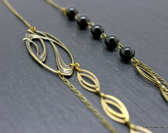 Long necklace art deco turquoise
