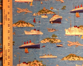 Bon Voyage  sea cruise fabric