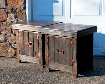 Better Than Reclaimed Barnwood Rustic End Table
