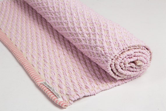 Baby pink and white rug cotton rug baby and kids rug