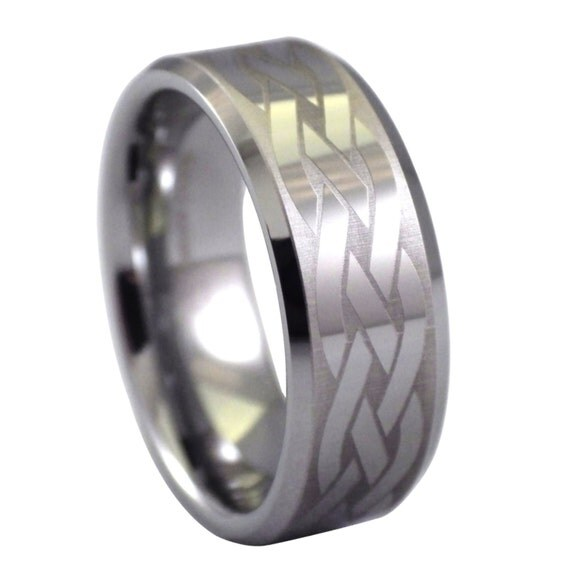 celtic infinity knot tungsten rings by