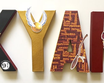 Harry Potter (Gryffindor) letters - Home Decor - Party Decorations - Wood letters - Custom Letters