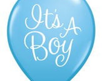 "ITS A BOY Balloon, 11"", Light Blue, Latex Balloon, 10/Pkg, Baby Shower Decoration, Gender Reveal balloons, Gender Reveal party, Baby Boy"