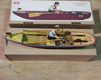 Vintage PAYA Tin Boat 612 (BARCA REMOS) Rowing 1923 - Juguete 3180/5000 +Box