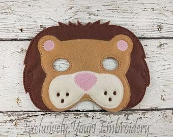 Lion Children's Felt Mask  - Costume - Theater - Dress Up - Halloween - Face Mask - Pretend Play - Party Favor