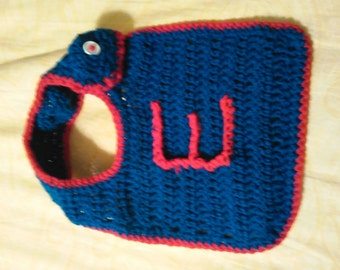 Crochet baby monogram bib