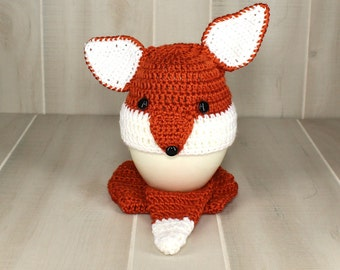 Baby Fox Diaper Set Crochet Fox Outfit Baby Boy Photo Prop Infant Fox Outfit