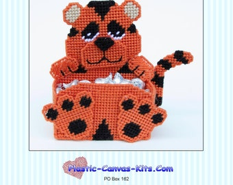 Tiger Treat/Candy Holder-Plastic Canvas Pattern-PDF Download