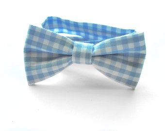 Yale Bow Tie, blue gingham bow tie, bow tie, neck tie, bow tie for boys, bow tie for babies, neck tie for boys, neck tie for babies
