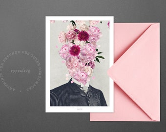 Postkarte Good Vibrations / Flower, Pink, Blossom, Card, Postcard, Greeting Card, Envelope, Present, Message, Letter