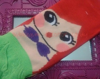 Ariel Mermaid Socks
