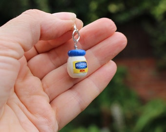 mayonnaise charm food charm gift for her, Mother's Day, novelty bead, gift for teenage girl