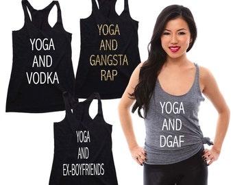 Yoga Tank, Yoga Shirt, Yoga Top, Workout Tank, Workout Shirt,  Bridesmaid Tank, Funny Workout Tank, Workout Tank Tops, Tank Tops for Women