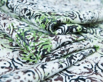 Printedlinenfabric,printed,scrollgrasspattern,floralprints,retrostyleforcoat,top,dress,skirt,pant, craftbytheyard