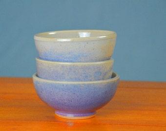 Purple Ceramic Bowl, Hand Thrown Porcelain Pottery, Soup, Salad, Cereal, Lavender, Tea, Unique Gift Mom, Side, Serving | Caldwell Pottery