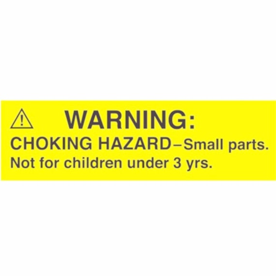 Choking Hazard Label: 1000 Labels / Roll Small Parts Warning Choking By