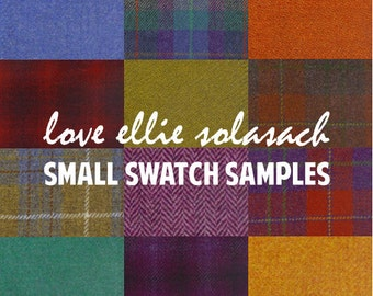 Harris Tweed SWATCHES - choose up to 5 small swatches - please read description for details