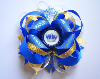 Hair Bows for Girls Hair Bow Boutique Hair Bows Layered Bow Stacked Bow Little Girl Bow Royal Bow Baby Hair bows Blue