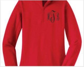 Monogrammed, 1/4 zip sweatshirt, sport-tek, flattering, womens, embroidered