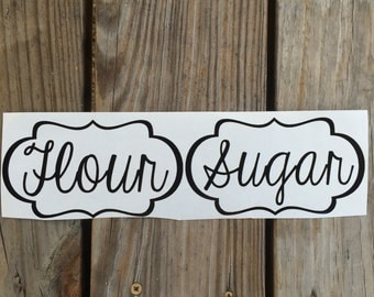 Sugar and Flour Decals with Border ~ Set of  2