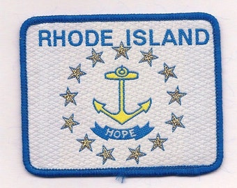 Vintage Rhode Island State Flag - Biker Patch