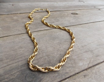 Vintage Gold Chain Necklace