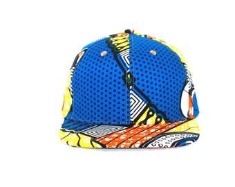 5panel BUCKET HAT African Wax SNAPBACK hats