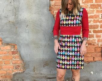 Matryoshka Print Dress