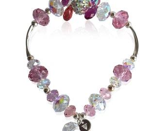 Verna Crystal Bracelet - Silver