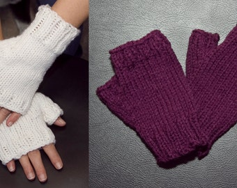 Fingerless gloves knitted  mittens woman trendy fashion autumn fall winter
